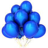 Super party helium balloons (Hi-Res). Shiny party blue helium balloons. This is a detailed 3D render.  Isolated on white Stock Photography