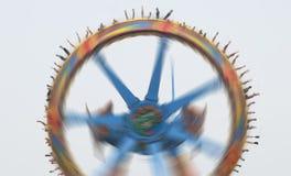 Super pendulum  in amusement park. Fun Stock Photo