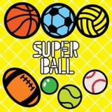 SUPER piłka Fotografia Stock