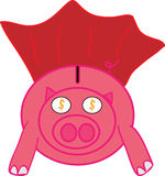 Super Pig Royalty Free Stock Photos