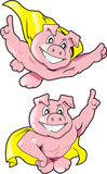 Super Pigs Stock Photo