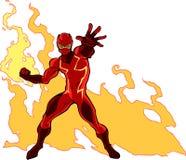 Super pożarniczy bohater Fotografia Royalty Free