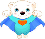 Super Polar Bear Royalty Free Stock Image