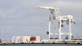 Super Postpanamax-kranen bij de Haven van Oakland Stock Foto