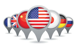 Super powers flags Stock Photo