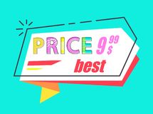 Super Price Big Sale 20 Set Stickers Flat Style. Best price 9.99 tag in flat style with super cost offer, advertisement label with info about final sale, vector vector illustration