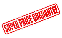 SUPER PRICE GUARANTEE red stamp text Royalty Free Stock Photo