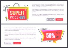 Super Price -35 Off Pages Vector Illustration Stock Image