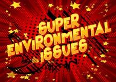Super problem ochrony środowiska - komiksu stylu słowa ilustracji