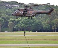 RSAF Super Puma helicopter Stock Image