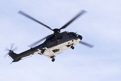 Super Puma helicopter royalty free stock image