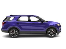 Super purple modern SUV car - side view. Isolated on white background vector illustration