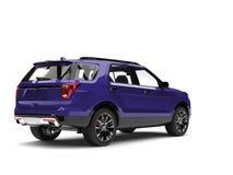 Super purple modern SUV car - tail light shot. Isolated on white background vector illustration