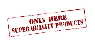 Super quality products Royalty Free Stock Image