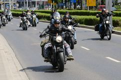 Super rally - Harley motor parade Royalty Free Stock Image