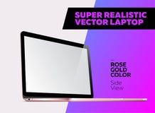 Super realistische Vektorillustration des Aluminiumlaptops vektor abbildung