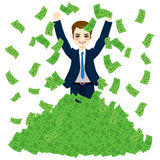 Super Rich Successful Businessman Royalty Free Stock Photography