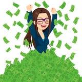 Super-Rich Successful Businesswoman vektor abbildung