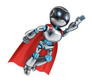 Super robot fly Royalty Free Stock Image
