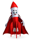 Super Rocket character Royalty Free Stock Photos