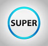 Super Ronde Blauwe Drukknop vector illustratie