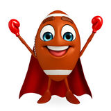 Super Rubgy ball character with Boxing Gloves Stock Photos