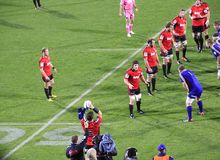 Super Rugby Game Players Line-out Throw Royalty Free Stock Photography