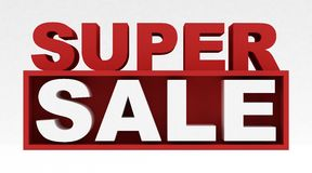 Super Sale. 3D super sale text isolated royalty free illustration