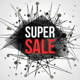 Super Sale Abstract vector banner Stock Image