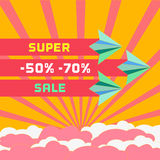 Super sale advertisement Royalty Free Stock Photography