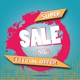 Super Sale arrow banner. Big sale, clearance. 50 off. Vector illustration. Super Sale arrow banner. Big sale, clearance. 50off. Vector illustration Eps 10 Stock Illustration