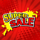 Super sale background with red. Stock Photo