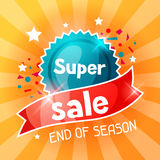 Super sale banner. Advertising flyer for commerce, discount and special offer Stock Image
