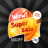 Super sale banner. Advertising flyer for commerce, discount and special offer Royalty Free Stock Image