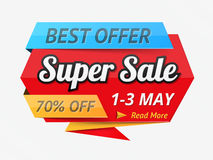 Super Sale Banner Royalty Free Stock Photo