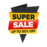Super sale banner, big sale poster design Stock Image