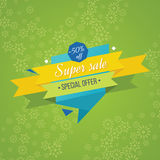 Super Sale banner on colorful background. Royalty Free Stock Images