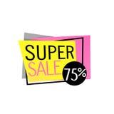 Super Sale banner design. Vector baner Stock Image