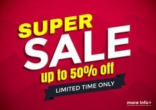 Super sale banner design Royalty Free Stock Image