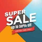 Super sale banner design Stock Photo