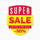 Super sale banner, limited time only Stock Image