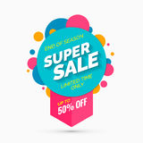 Super sale banner, limited time only Stock Photo