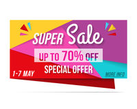 Super Sale Banner Royalty Free Stock Photos