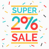 Super Sale banner. Original concept poster with the inscription Happy shopping 2016. Sale banner. Vector illustration Stock Photo