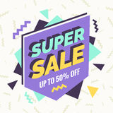 Super sale banner, Retro edition. Royalty Free Stock Photography