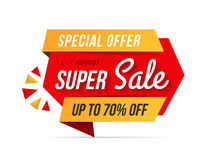 Super Sale Banner. Special offer Royalty Free Stock Photo