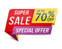 Super Sale Banner Royalty Free Stock Photography