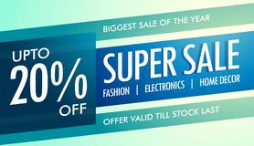 Super sale banner template for your promotion Royalty Free Stock Images