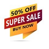 Super sale banner. Vector illustration Stock Photo