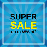 Super sale banner. Vector illustration. Stock Photos